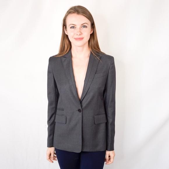 Comptoir Des Cotonniers Jackets & Blazers - COMPTOIR DES COTONNIERS Wool Gray Blazer 0011